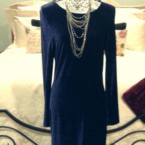 2/$50 Stunning sapphire blue floor length dress